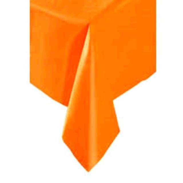 Where to find TABLECLOTH, 60 X 120 ORANGE in Tulsa