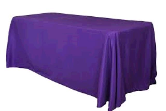Where to find TABLECLOTH, 60 X 120 PURPLE in Tulsa