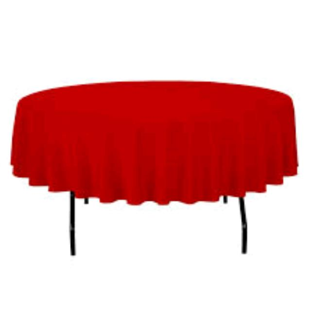 Where to find TABLECLOTH, 72 X 72 RED in Tulsa