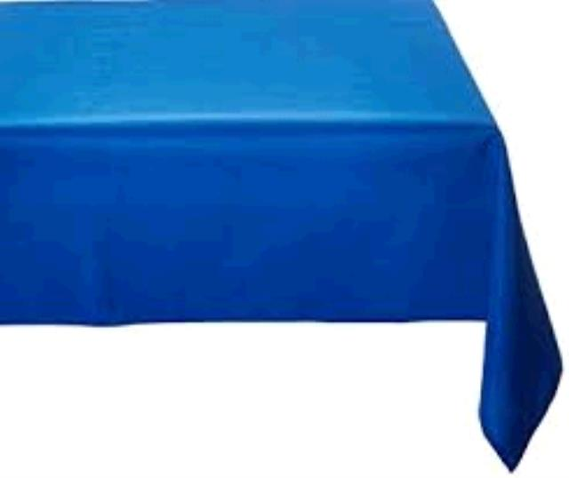 Where to find TABLECLOTH, 64 X 64 ROYAL BLUE in Tulsa