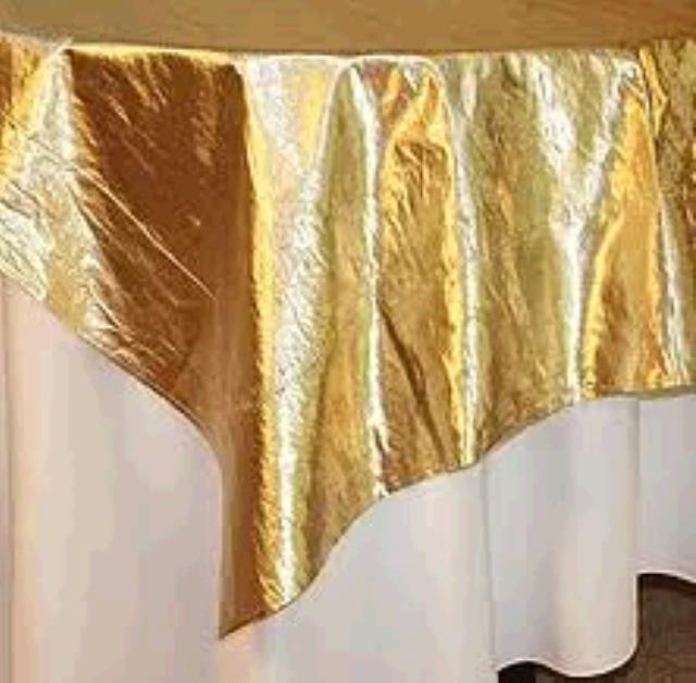 Where to find TABLECLOTH, 54 X 54 GOLD LAME in Tulsa