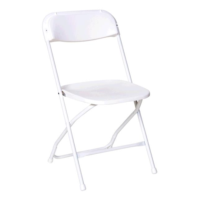 Where to find CHAIR, FOLDING PLST. WHITE OS in Tulsa