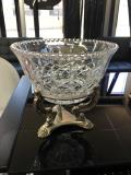 Rental store for BOWL, GLASS W SILVER STAND LG in Tulsa OK