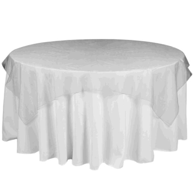 Where to find TABLECLOTH, 78 X 78 SILVER ORGANZA in Tulsa