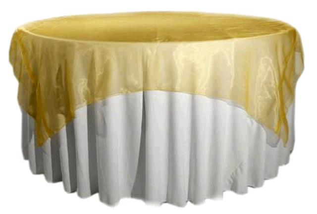 Where to find TABLECLOTH, 72 X 72 GOLD ORGANZA in Tulsa