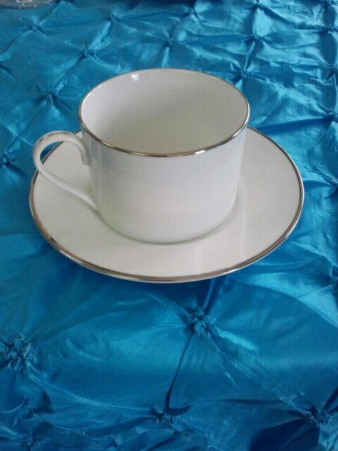 Where to find CUP, COFFEE SAUCER W SILV.RIM in Tulsa