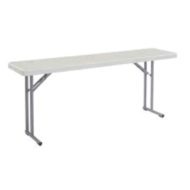 Where to find TABLE, PLASTIC GRAY- 6  X 18 in Tulsa