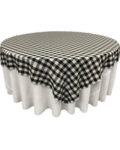 Rental store for TABLECLOTH, 78  X 78  BLK. CHE in Tulsa OK