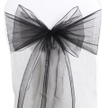 Rental store for CHAIR TIE, BLACK ORGANZA in Tulsa OK