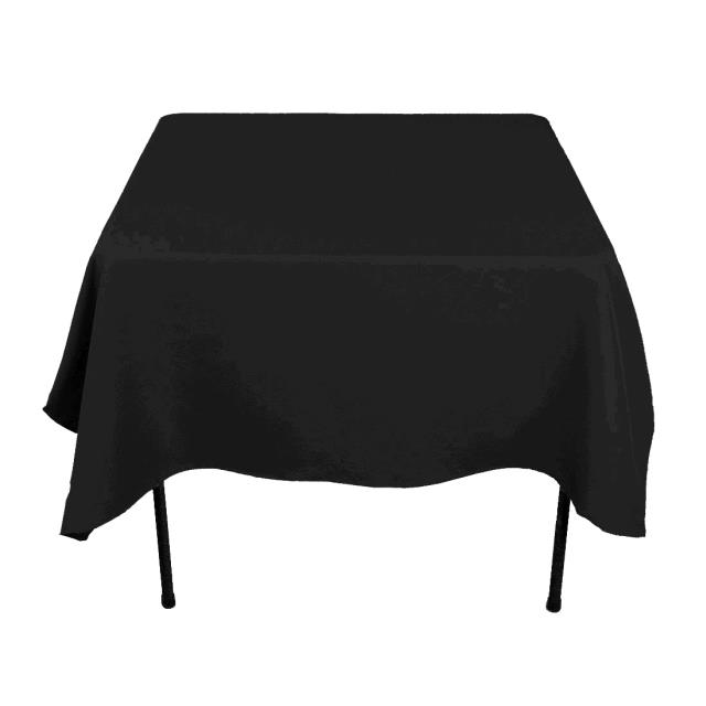 Where to find TABLECLOTH, 52 X 52 BLACK COTTON in Tulsa