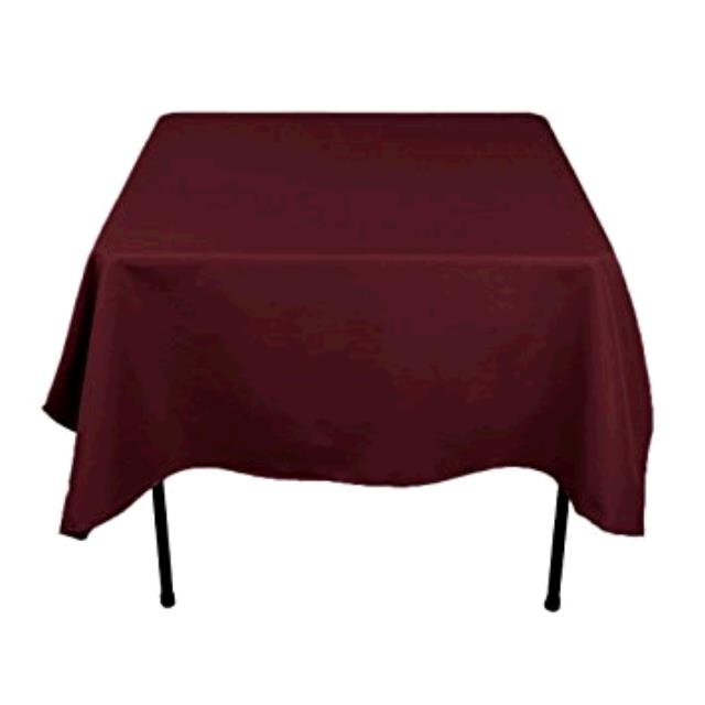 Where to find TABLECLOTH, 61 X 61 BURGUNDY in Tulsa