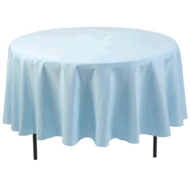 Where to find TABLECLOTH, 61 X 61 LIGHT BLUE in Tulsa