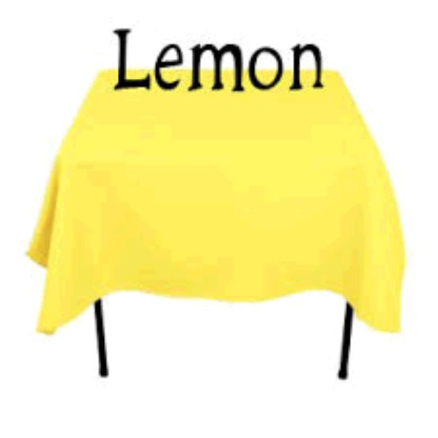 Where to find TABLECLOTH, 78 X 78 LEMON in Tulsa