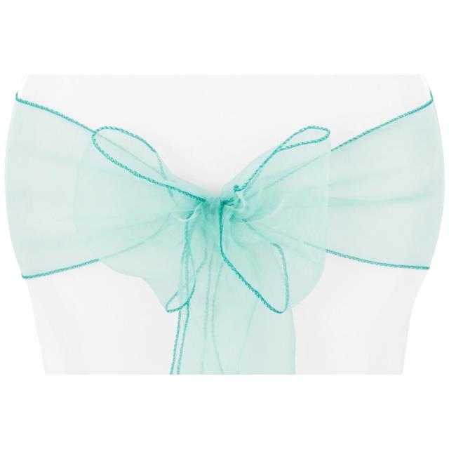 Where to find CHAIR TIE, TURQUOISE ORGANZA in Tulsa