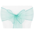 Where to rent CHAIR TIE, TURQUOISE ORGANZA in Tulsa OK