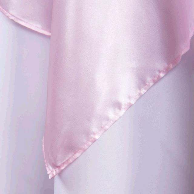 Where to find TABLECLOTH, 60 X 60 LIGHT PINK SATIN in Tulsa