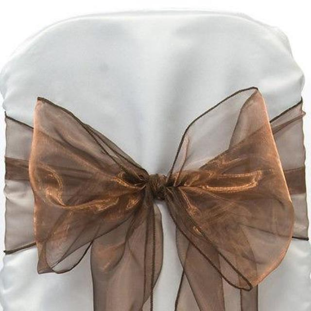Where to find CHAIR TIE, BROWN ORGANZA in Tulsa