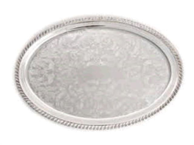 Where to find TRAY, 8  X 14  OVAL SILVER in Tulsa