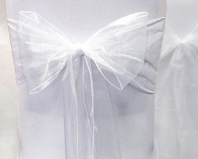 Where to find CHAIR TIE, WHITE ORGANZA in Tulsa