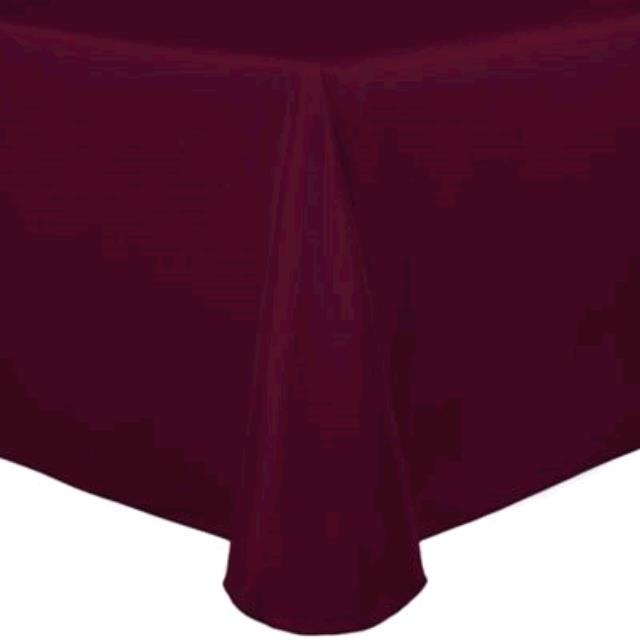 Where to find TABLECLOTH, 52 X 114 BURGANDY COTTON in Tulsa