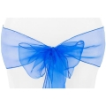 Rental store for CHAIR TIE, ROYAL BLUE ORGANZA in Tulsa OK