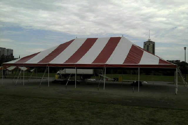 Where to find TENT, 40 X120 RED WHITE POLE in Tulsa