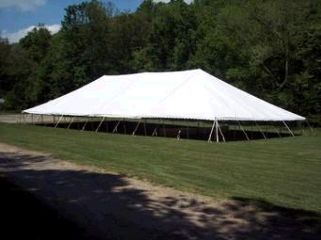Where to find TENT, 60 X120  POLE WHITE TENT in Tulsa