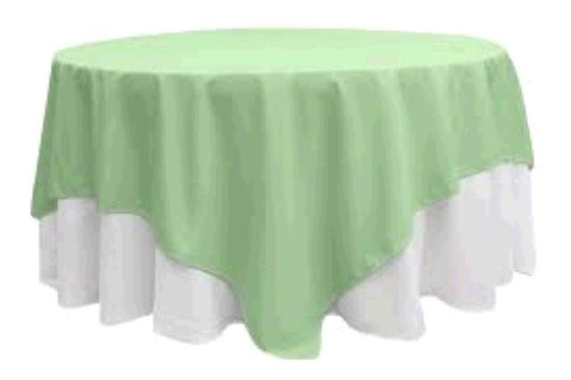 Where to find TABLECLOTH, 72 X 72 MINT SATIN in Tulsa