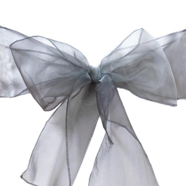 Where to find CHAIR TIE, CHARCOAL ORGANZA in Tulsa