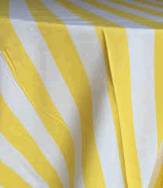 Where to find TABLECLOTH, 42 X 42 YELLOW STRIPE in Tulsa