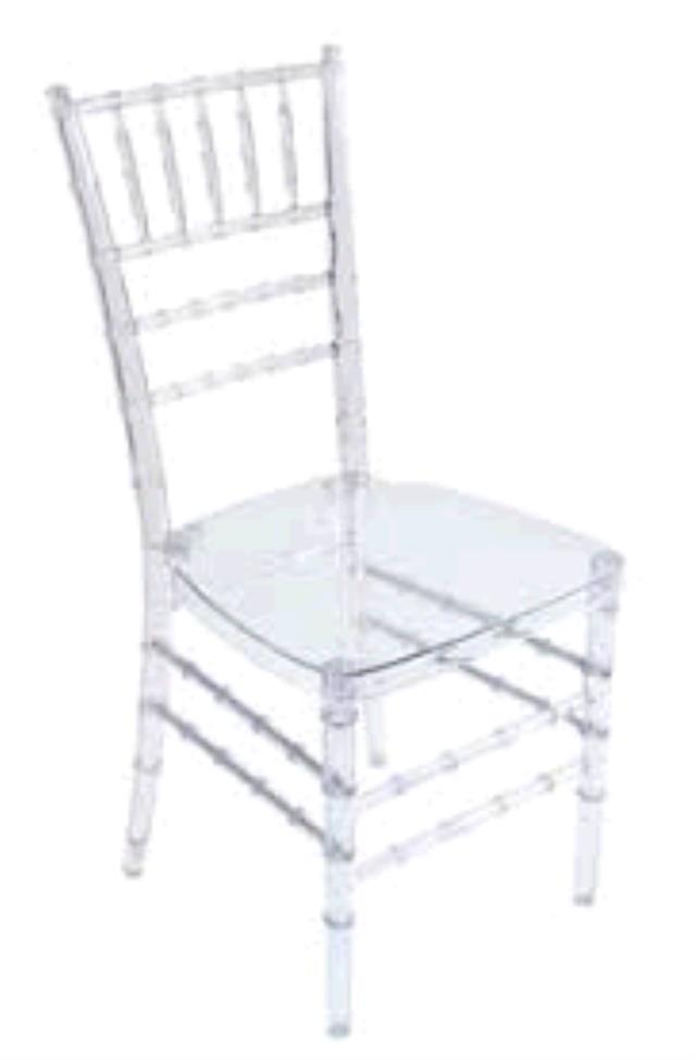 Where to find CHAIR, ICE CLEAR RESIN BALLROOM in Tulsa