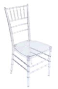 Where to rent CHAIR, ICE CLEAR RESIN BALLROOM in Tulsa OK