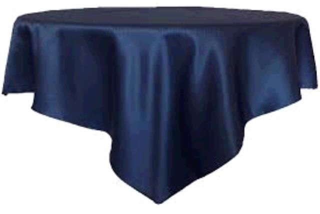 Where to find TABLECLOTH, 72 X 72 NAVY SATIN in Tulsa