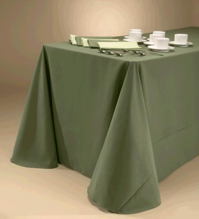 Where to find TABLECLOTH, 90 X 132 DARK OLIVE in Tulsa