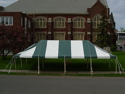 Where to find TENT, 20 X40 GREEN WHITE POLE in Tulsa