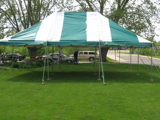Where to find TENT, 20 X20 GREEN WHITE POLE in Tulsa