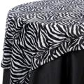 Rental store for TABLECLOTH, 72  X 72  ZEBRA PRINT in Tulsa OK
