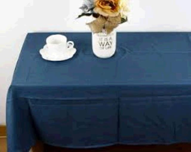 Where to find TABLECLOTH, 78 X 78 NAVY BLUE in Tulsa