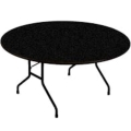 Rental store for TABLE, 60 ROUND BLACK PLASTIC in Tulsa OK