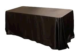 Where to find TABLECLOTH, 90 X 132 BLACK SATIN in Tulsa
