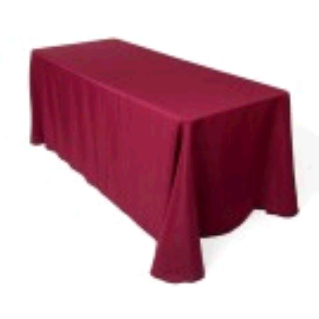 Where to find TABLECLOTH, 85 X 85 BURGUNDY in Tulsa