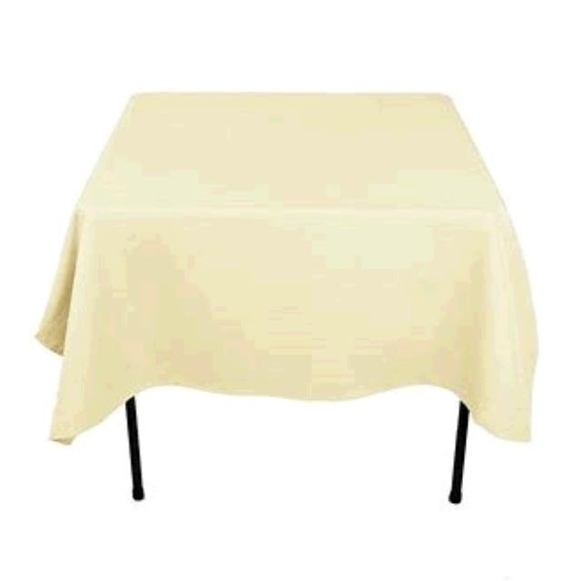 Where to find TABLECLOTH, 85 X 85 IVORY in Tulsa