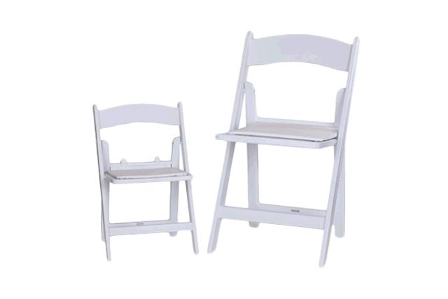 Where to find CHAIR, KIDS FOLDING WHITE RESIN in Tulsa
