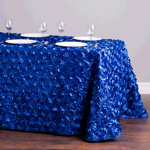 Where to find TABLECLOTH, 90 X 132 ROYAL BLUE ROSETTA in Tulsa