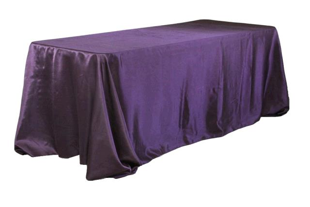 Where to find TABLECLOTH, 90 X 132 EGGPLANT SATIN in Tulsa