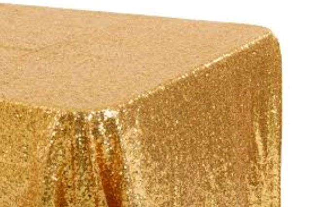 Where to find TABLECLOTH, 90 X 132 GOLD GLITZ SEQUINS in Tulsa