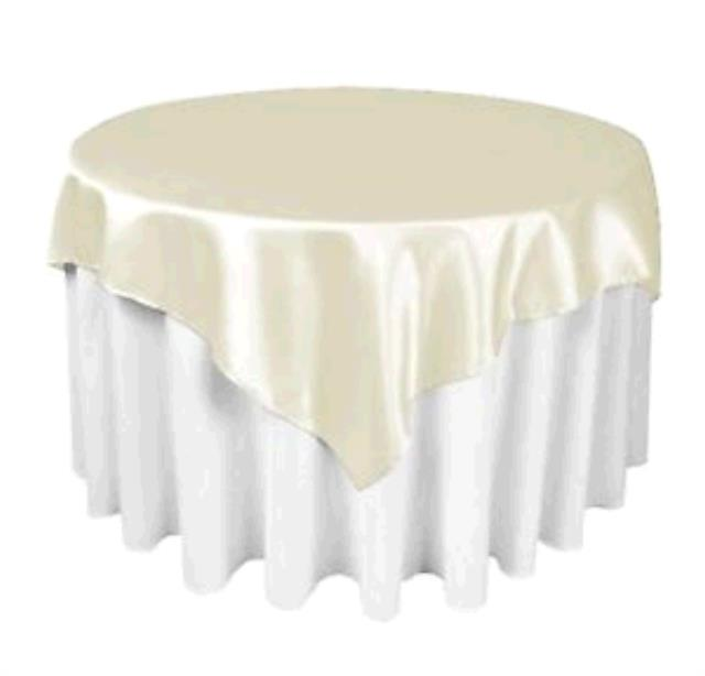 Where to find TABLECLOTH, 72 X 72 IVORY SATIN in Tulsa