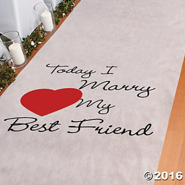 Where to find AISLE RUNNER, 36 X100  I MARRY MBF in Tulsa