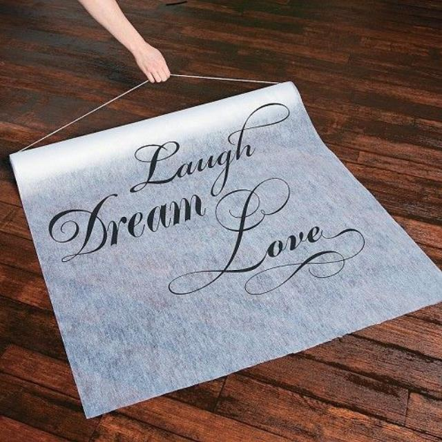Where to find AISLE RUNNER, 36 X100  LAUGH DREAM LOVE in Tulsa