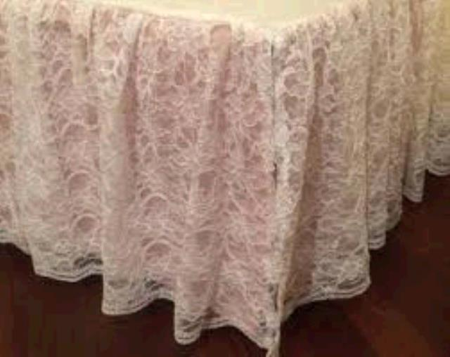 Where to find SKIRTING, 21FT CHAMPAGNE LACE in Tulsa